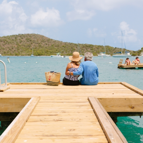 Couple Sitting on the Dock