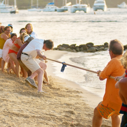 Tug-of-War at Bitter End Yacht Club